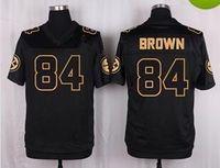 american pro bowl - 2016 New Pro Bowl Men American Football Jersey Pittsburgh BROWN Black Stitched Jerseys