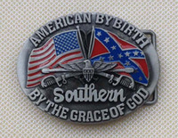 Wholesale American By Birth Belt Buckle SW BY133 suitable for cm wideth belt with continous stock