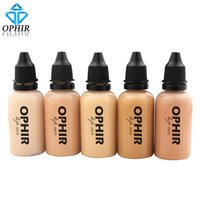airbrush face makeup - OPHIR PRO Airbrush Face Make up Concealer Foundation Spray Air Makeup Foundation for Airbrush Kit oz Bottle _TA104