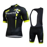 Wholesale Kuota Cycling Jerseys Ropa Ciclismo Breathable Bicycle Clothing Quick Dry GEL Pad Mountain Bike Bib Shorts Black Yellow Cycling Kits XS