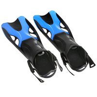 Wholesale New Water Sports Adult Swimming Fins Adjustable Submersible Long Fins Snorkeling Foot Swimming Flipper Diving Fins Size