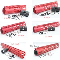 Wholesale 7 Length Red Free Float Rail Mount Keymod Handguard with Steel Barrel Nut Fit AR
