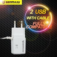 Mix Color ac usb light - Light Led USB Charger with Cable EU Plug Dual USB AC Power Adapter Home Charger Ports For All Phones iPhone Samsung LG Tablet iPad SMX