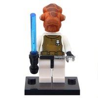 admiral star wars - STAR WARS Rebels Admiral Ackbar with LightSaber SW247 Minifigures Assemble Model DIY D Building Blocks Kids Gifts Toys