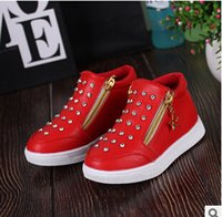 Wholesale 2016 Autumn new Korean girls high to help low tube short boots double zipper shoes Diamond