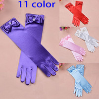 Wholesale Girls Princess Long Gloves color Cartoon Elsa Princess Gloves Girls Ladies Fancy Gloves Children Kids Christmas Xmas Birthday Gift WX G03