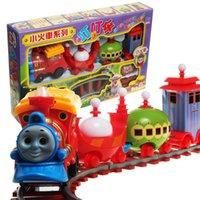 Precio de Trains-Los niños encantadores tren eléctrico del carril del tren del carril juguete de la música montado pista rompecabezas