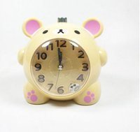 Wholesale retail stationery relaxed bear small alarm clock belleasy bear