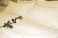 Wholesale 100 Combed Cotton Jacquard Fabric Luxury Hotel Bed Linen Set pc Bed Sheet Pillowcase