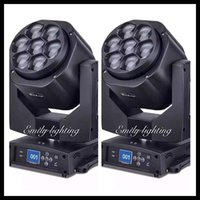 Wholesale 2 units new w RGBW IN1 color moving head mini led bee eye with zoom wash beam function stage club party dj disco beam light