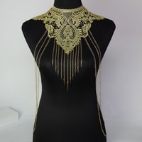 Wholesale New body chain Women Fashion Necklaces Pendants Alloy Gold Body Necklace Lady Chokers Punk Style Sexy Statement Jewelry