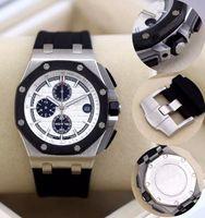 ap offshore - High AAA Quality Luxury Brand Royal Watch Sport Man Watch AP Rubber Strap Chronograph Stopwatch Oak Offshore reloj de pulsera