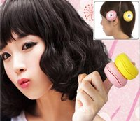 Wholesale HOT Explosion models New hair Macaron shaped wavy curls tool install two curlers green soft plastic