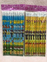 Wholesale Sets Children Gift school kindergarten Pikachu pencil cartoon prints kids wood drawing Standard Pencils Non toxic HB