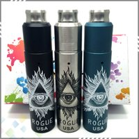 Wholesale Newest Rogue Kit Come With Rogue Mechanical Mod and Rogue Rebuildable Dripping Atomizer fit Battery Colors DHL Free