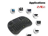 Wholesale Hebrew English Russian Arabic language G Rii i8 keyboard wireless mini Touch pad mouse Combo for Tv box tablet mini pc ps3