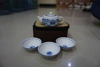 Wholesale 2016 cups suit High quality ceramic teapot suits Blue and white porcelain kung fu tea ceremony Keeping in good health