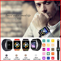 Wholesale GT08 Bluetooth Smart Watch with SIM Card Slot Health Watchs For Android IOS Smartphone Bracelet Smartwatch VS A1 U8 DZ09 GV08 T3 LX16 GT88