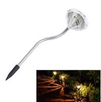 Precio de Luces led solar led solar-LIBRE DHL 2016 nuevo inoxidable energía solar LED ahorro de energía brillante impermeable diamante Shape Light Lampe césped para jardín al aire libre decorativa