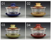beautiful teapot - Chinese kungfu gai wan teaset China glass Tea Sets Dehua gaiwan tea porcelain teapot tea set for travel Beautiful easy kettle