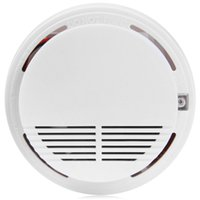 Wholesale Top sale Wireless Photoelectric Smoke Alarm Fire Sensor Suitable For Home and Supermarket Security dB in inches White