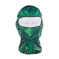 Wholesale Green Tree Man Quick Drying Ultra Thin Ear Wool Bicycle Basketball Ski Hat Balaclava UV Protection Full Face Mask