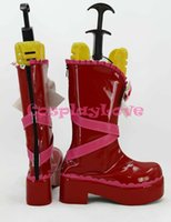 Wholesale Newest Custom Made Japanese Anime Lovelive Valentine s Day Lolita Maid Nishikino Maki Cosplay Shoes Boots For Halloween
