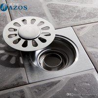 bathroom drain parts - AZOS Stainless Steel Toilet Floor Drain Strainer Grates Waste Bathroom Shower Part Ground Overflow Fitting PJDL007