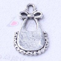 apron diy - Apron Bow Pendant Fit Bracelets or Necklace Retro antique Silver bronze Charms DIY Jewelry z
