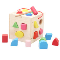 Wholesale The th hole box of intelligence Solid blocks geometry Educational toys made of wood Young children