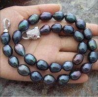 beautiful black angels - BEAUTIFUL MM NATURAL SOUTH SEA BAROQUE BLACK PEARL NECKLACE quot Leopard Cla