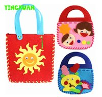 art handbags - 5pcs Make Handmade Handbags DIY non woven Felt Fabric Cloth Kit kids Girl Art Crafts Toys for Children