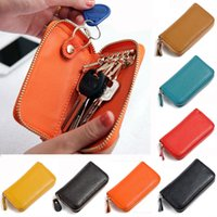 ans cars - 2016 Best Selling Men s Genuine Cow Leather Purse Car Key Wallets Fashion Women Housekeeper Holders ANS CL