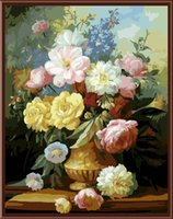 abstract paintng - Flower Frameless Picture Painting By Numbers Wall Art DIY Canvas Oil Paintng Home Decor For Living Room Home Picture G217