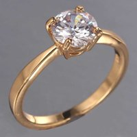 Wholesale And Retail Women Fashion Engagement Ring With AAA Zircon And K Gold Plating Wedding Ring Jewelry Factory