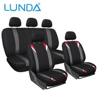 Wholesale LUNDA Cloth Mesh Red Black Gray Head Rests Auto Seat Covers Set Universal Fit for Car Truck Suv or Van Car Styling