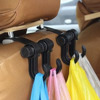 Wholesale Strong Universal Car Seat Back Seat Hanger Purse Cloth Grocery Shopping Bag Organizer Holder Hook W061