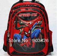 Wholesale 50cs Top Quality Fashion Spiderman School Bag Cartoon Children Backpack Student Rucksack G3073