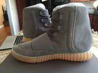 Wholesale With Original Box Boost Light Grey Gum Kanye West Glow in Dark BB1840 Women Men boots Casual Shoes Size US