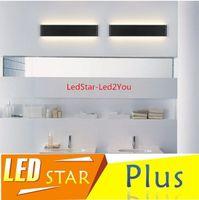 bathroom lighting designer - 2016 New Designer Black White LED Stairs bedroom living room background lamp lights Aluminum Bathroom mirror light wall sconces