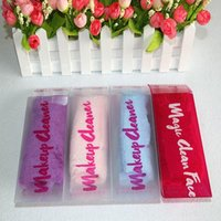 Wholesale 50pcs Magic Makeup Remover Towel Soft Microfiber Professional Makeup Cleaning Towel Remover With Water Free DHL
