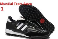 astro shipping - Newest top quality classics kangaroo skin TF Spike Mundial Team Astro Black White red blue soccer shoes drop shipping size
