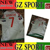 austria hungary - 2016 AUSTRIA VS HUNGARY away white jersey DZSUDZSAK HUNGARY white jersey customize patches