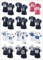 active soccer - Women football jerseys Dez Bryant Dallas cheap cowboys Tony Romo Dak Prescott nice soccer rugby t shirts Size S XL