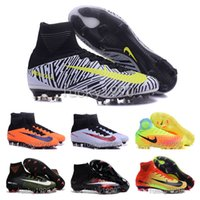 Wholesale 2016 new mens cleats high ankle TURF football boots MaGISta FG ACC HERITAGE soccer shoes CR7 NJR MercURIal SupERfly V hypervenom II indoor