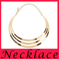 american smooth - Hot new punk metal collar female and exaggerated smooth metal necklace dew sexy clavicle chain complex ancient head Necklace
