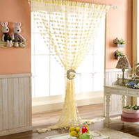 Wholesale Elegant Love Heart Tassel String Curtain for Window Door Divider Room Decoration Voile Valance Colors