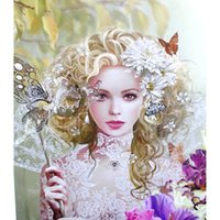 beauty cloth butterfly - Diy Diamond Painting home decor square drill Mosaic Embroidery bedroom poster Beauty and butterfly X40CM HWB