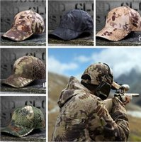 Wholesale Wild Cotton Tactical Baseball Cap Camouflage Adjustable Military Special Forces Cap For Men women Sun Hat Outdoors wargames Cap