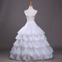 Wholesale Hot Sale Good price and quality Wedding Gown Train Crinoline Underskirt Layers Ruffles four rims petticoat